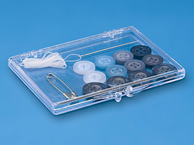 Clear Plastic Hinged Containers, Molded Styrene Boxes and Cases for packaging and product storage