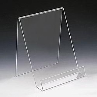 Acrylic J Easels J-Stand Displays with Front Lip