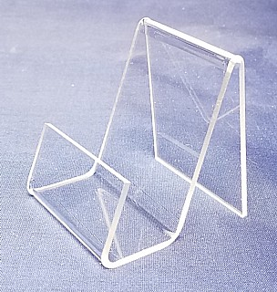 Clear Acrylic J Easel with Front Lip