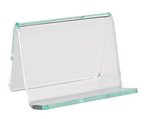 JE275 Green Edge Business Card Holder Easel