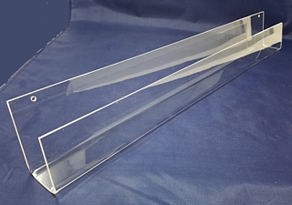 Clear Acrylic J-Rack Shelf or Card Rack For Wall