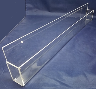 Clear Acrylic J-Rack Shelf or Card Rack Shelf For Wallmounting