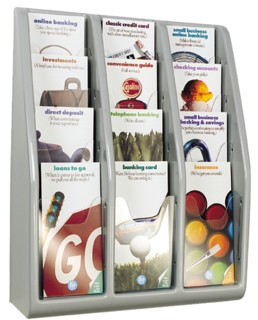LitRack12 12 Pocket Literature Holder for TriFold Brochures or Pamphlets