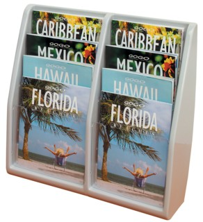 Multiple Pocket Magazine and Literature Brochure Holders