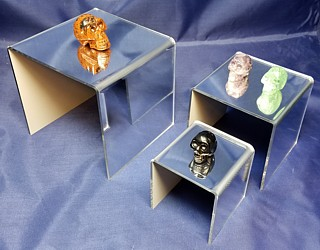 Mirrored Acrylic Risers and Mirror Plexi Pedestals