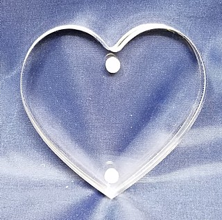 Clear Acrylic Deluxe Heart Shaped Magnetic Block Frames in Lucite or Plexi