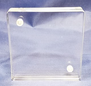 Clear Acrylic Deluxe Magnetic Block Frames in Lucite or Plexi