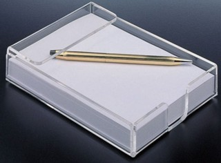 Clear Acrylic Memo Holder for Scratch Pads, Memos, Tips, and More - Made From Plexiglas, Plexiglass, Lucite, Plastic