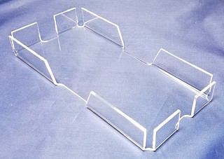 Clear Acrylic Memo Holder for Scratch Pads, Memos, Tip Tray, and More - Made From Plexiglas, Plexiglass, Lucite, Plastic