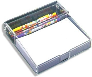 MP5 Clear Acrylic Memo Pad Holder, Scratch Pad Holder, Memopad, Acrylic, plexi, plexiglass, plexiglas, lucite