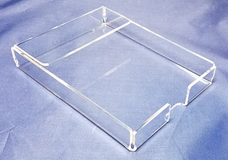 Clear Acrylic Memo Holder for Scratch Pads, Memos, Sticky Notes, and More - Made From Plexiglas, Plexiglass, Lucite, Plastic