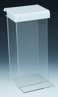 Clear and White Acrylic Outdoor Literature Holder model OBH6 For Tri-Fold Brochures or Pamphlets