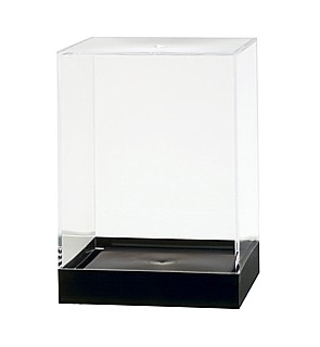 Clear Plastic Display Box Container with Black Base Model PB32