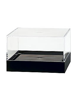 Clear Plastic Display Box Container with Black Base Model PB33