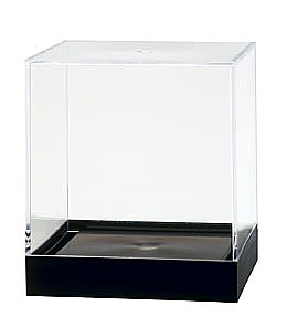 Clear Plastic Display Box Container with Black Base Model PB35