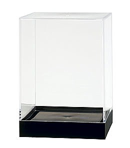 Clear Plastic Display Box Container with Black Base Model PB36