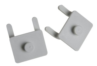White Plastic Pegboard Adapters Clips For Use with Keyholes