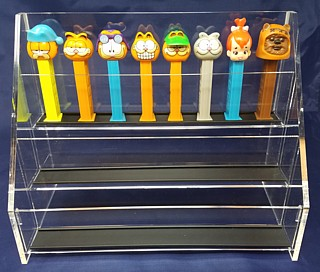 Clear Acrylic 3 Tier Display for Holding and Displaying Pez Dispensers