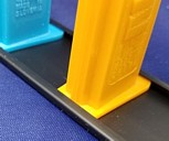 Black PEZ Rails for Holding PEZ Dispensers Upright For Display