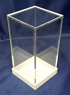 Clear Acrylic 5-Sided Boxes with Clear Bases made from Plexi, Plexiglas, Plexiglass, lucite and plastic