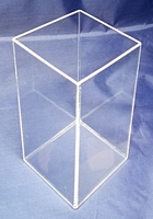 Clear Tall Acrylic 5-Sided Cubes