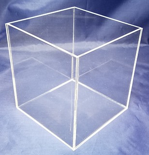 Clear Acrylic Tall Cubes and Boxes in Plexiglas, Plexiglass, lucite and plastic