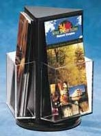 Black Acrylic Rotating Brochure and Literature Holders and displays, Plexiglas, Plexiglass, plexi, Plastic, lucite
