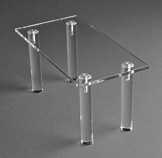 Clear Acrylic Rectangular Table Risers