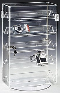 Acrylic Locking Rotating Showcase Security Display Case