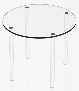 Clear Acrylic Round Circular Table Risers