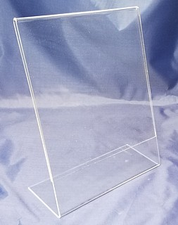 Acrylic Countertop Sign Holders and Plexiglas Display Frames in Plexiglass or Lucite Plastic