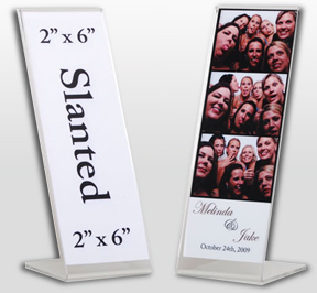 Clear Acrylic Frame for Photo Booth Prints - wedding favors