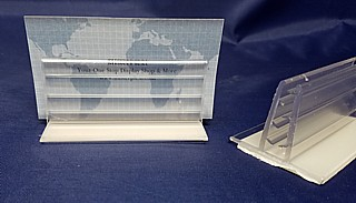 Clear PVC Extruded Sign Base