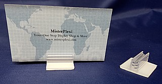 Clear Sign Base Made from PVC Plastic