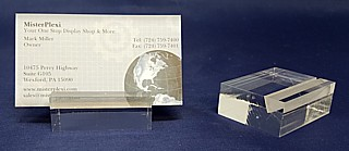 Clear Acrylic Sign Base Price Ticket Holder