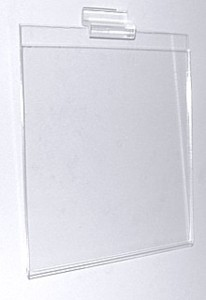 Clear Acrylic Sign Holder Display Frames in For Slatwall or Slotwall