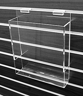 Clear Acrylic Slatwallt Literature Holder model SLH4 For Tri-Fold Brochures or Pamphlets