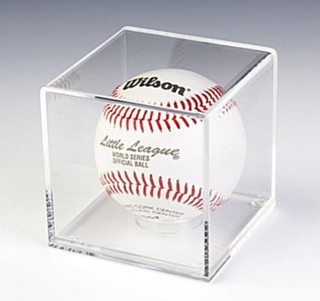 SPC1 Clear Acrylic Baseball Tennis Ball Display case with Clear Acrylic Base
