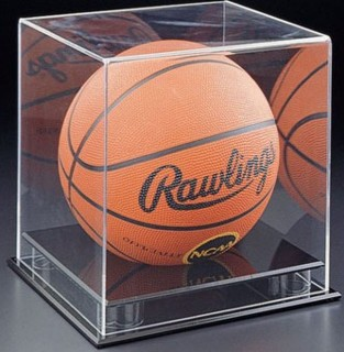 SPC3-DLX Clear Acrylic Basketball Soccer Ball Display case with Black Base