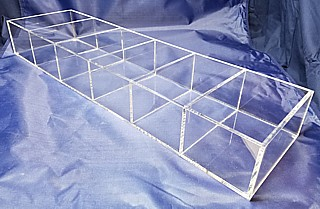 SQAR246-6 clear acrylic square compartment organizer rack / bin