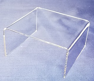 Clear Acrylic Square Short U Risers in Plexi and Lucite