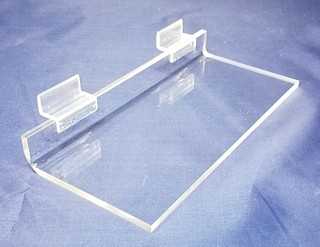Clear Acrylic Flat Shelf For Slatwall or Slotwall