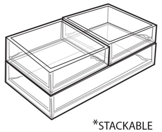 clear molded styrene trays are stackbale