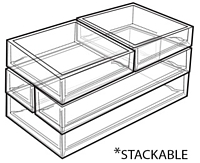 Clear Stacking Molded Styrene Trays