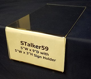 Clear Acrylic Shelf Talker with Sign Holder