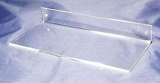 Clear Acrylic Wallmount Shelf for Mounting with Screws to Drywall or Other Flat Surface