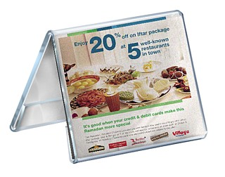 Clear Acrylic 2 Sided Tent Style Photo Frame or Sign Holder