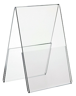Clear Styrene 2 Sided Tent Style Photo Frame or Sign Holder