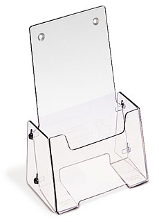 Clear Ship Flat Fold Up Countertop or Wallmount Brochure Literature Holder Model VFH4-C