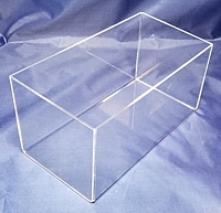 Clear Wide Acrylic 5-Sided Cubes